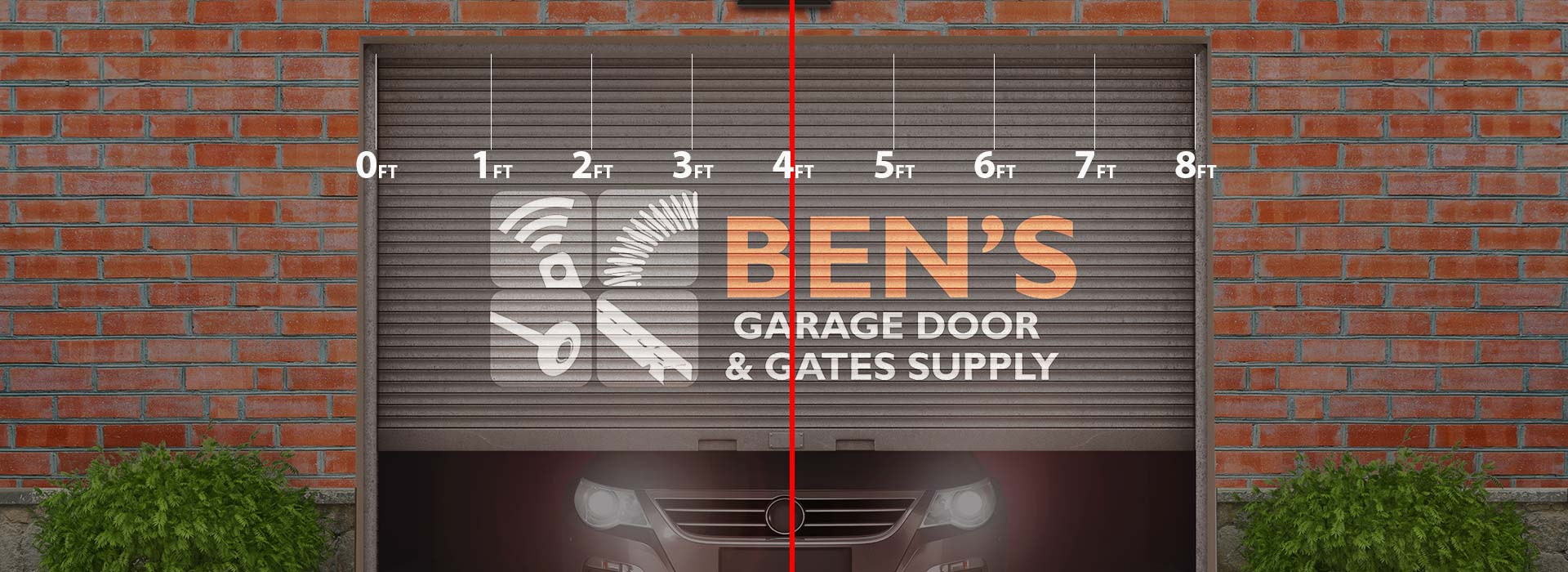 install garage door opener in the center