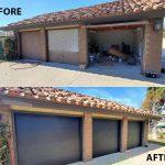 garage door replcement | before & after