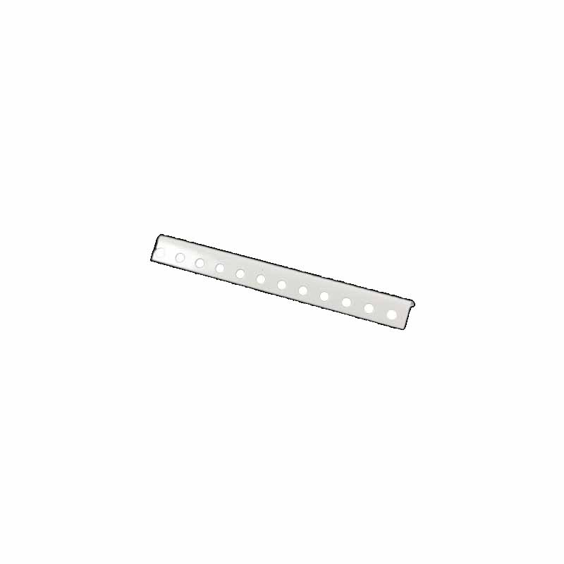 "1-1/4"" x 1-1/4"" x 8' 3"" White Powder Coated Angle 12 Ga"