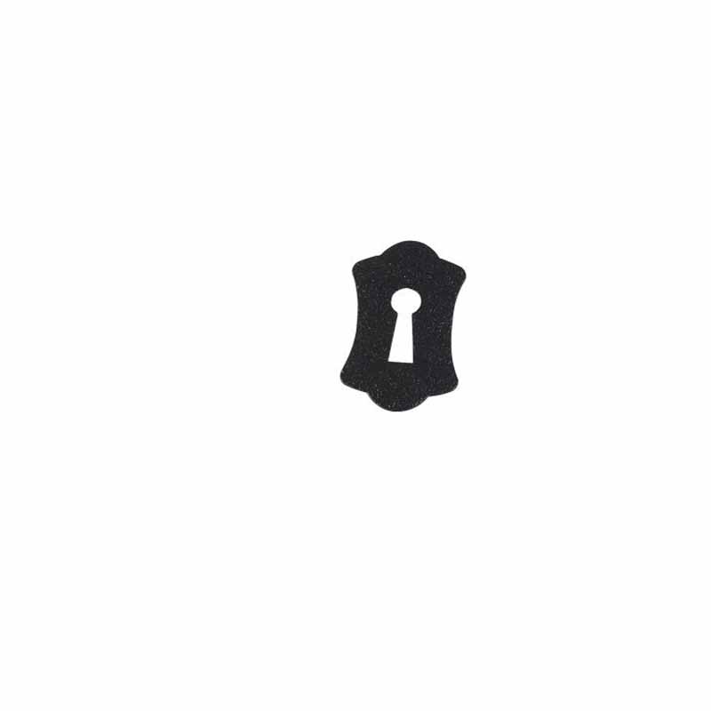 "3-1/2"" Flexible Magnetic Keyhole - Black"