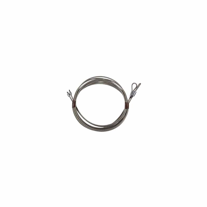 """Pair Torsion Cable 1/8"""" 7x19 9'6 (8' Door) - Stainless Steel"""