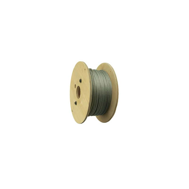 """1/4"""" 7 x 19 Galvanized Aircraft Cable Reel, 100'"""