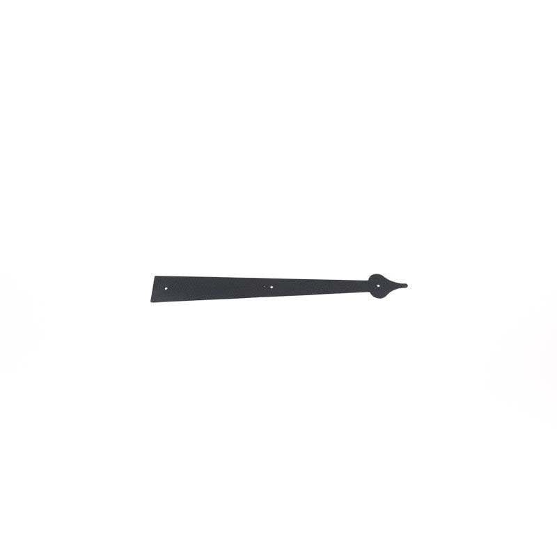 "24"" Stamped Spear Hinge - Black"