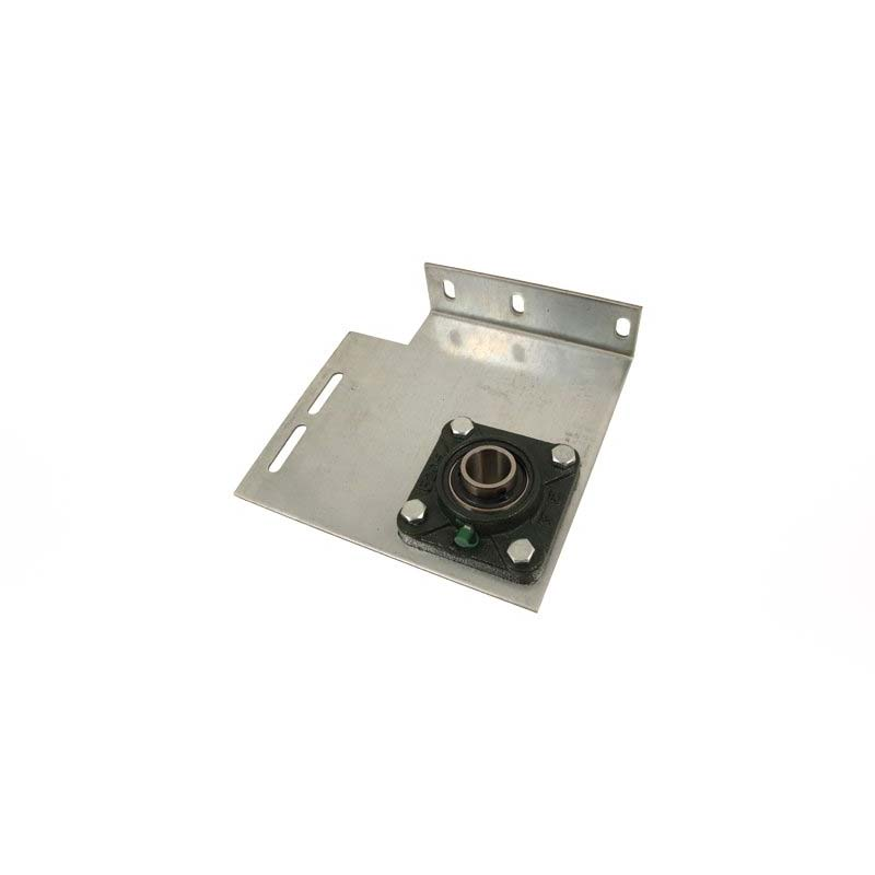 """Commercial Flanged End Bearing Plate- 6"""" Pair, Heavy Duty with 1-1/4"""" Bore"""