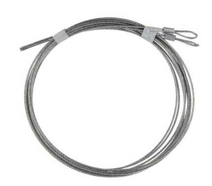 """Restraint Cables, Pair (3/32"""" 7x7, 10'0"""")"""