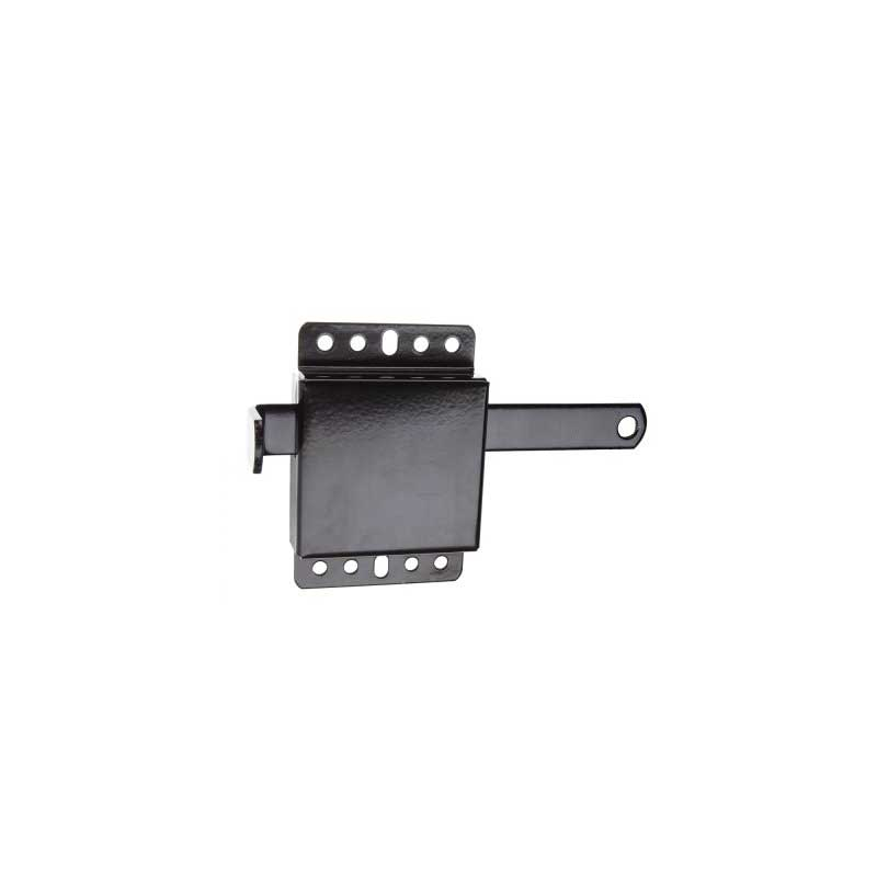 """Universal Slide Lock for 2"""" and 3"""" Track - Black Powder Coated"""