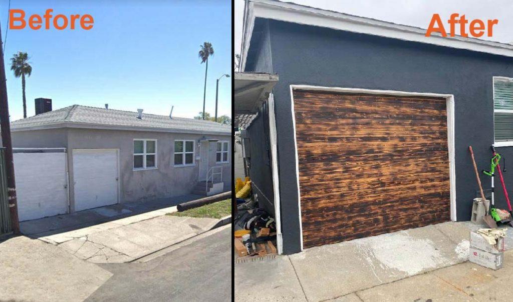 best before and after garage door in oak park